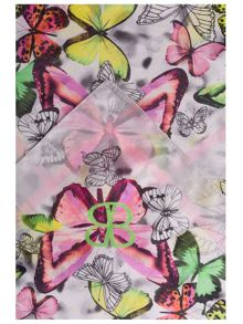 Silk Scarf with Allover Print