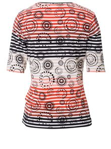 Basler T-Shirt with Pattern Mix