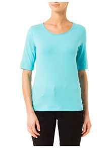 T-Shirt with Decorative Pearls