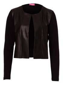 Jersey Jacket With Imitation Leather