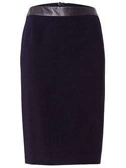 Pencil Skirt with Imitation Leather