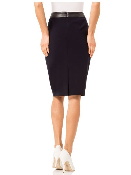 Basler Pencil Skirt with Imitation Leather