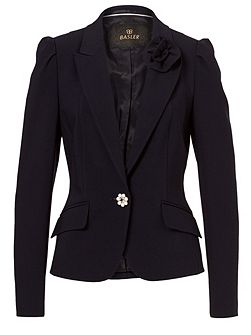 Blazer with Floral Detail