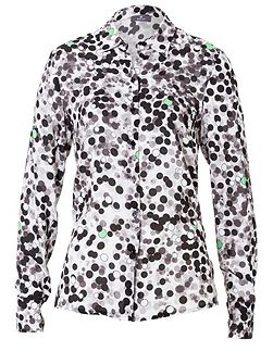 Shirt Blouse with Dotted Print