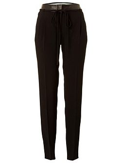 Crepe Pleat Front Trousers
