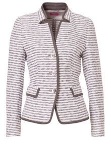 Striped Material Mix Blazer