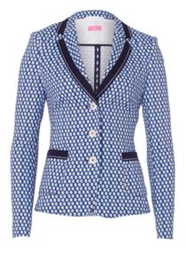 Jersey Blazer With Point Pattern