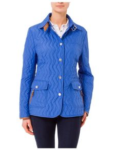 Light Quilted Jacket with Piping