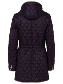 Lightweight Quilted coat with hood