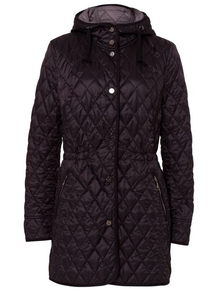 Basler Lightweight Quilted coat with hood