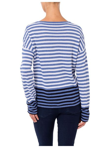 Basler Striped Sweater with Print