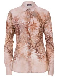 Shirt Blouse with Ornamental Print