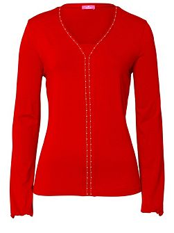 Long Sleeved T-Shirt with Stud Detail