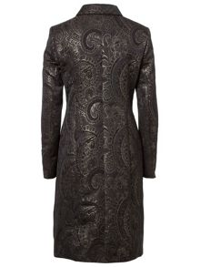Black and Gold Jacquard Evening Jacket