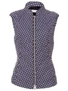 Basler Gillet In Blue Graphic Print