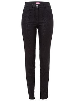 JULIENNE Trousers with herringbone print