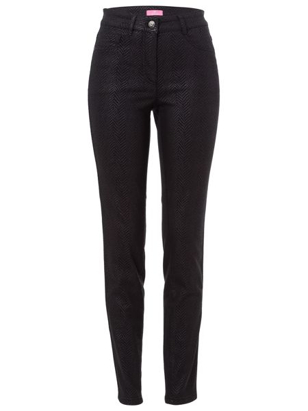 Basler JULIENNE Trousers with herringbone print