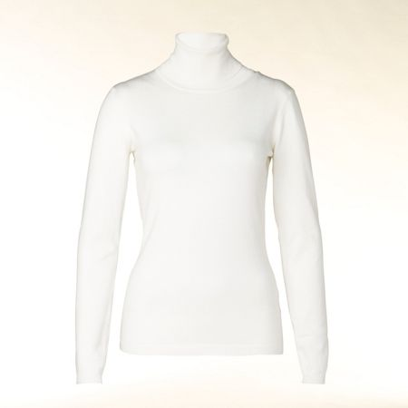 Hallhuber Tapered polo neck knit