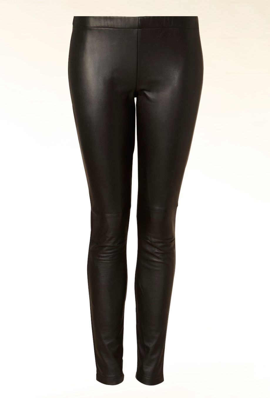 Leather front leggings