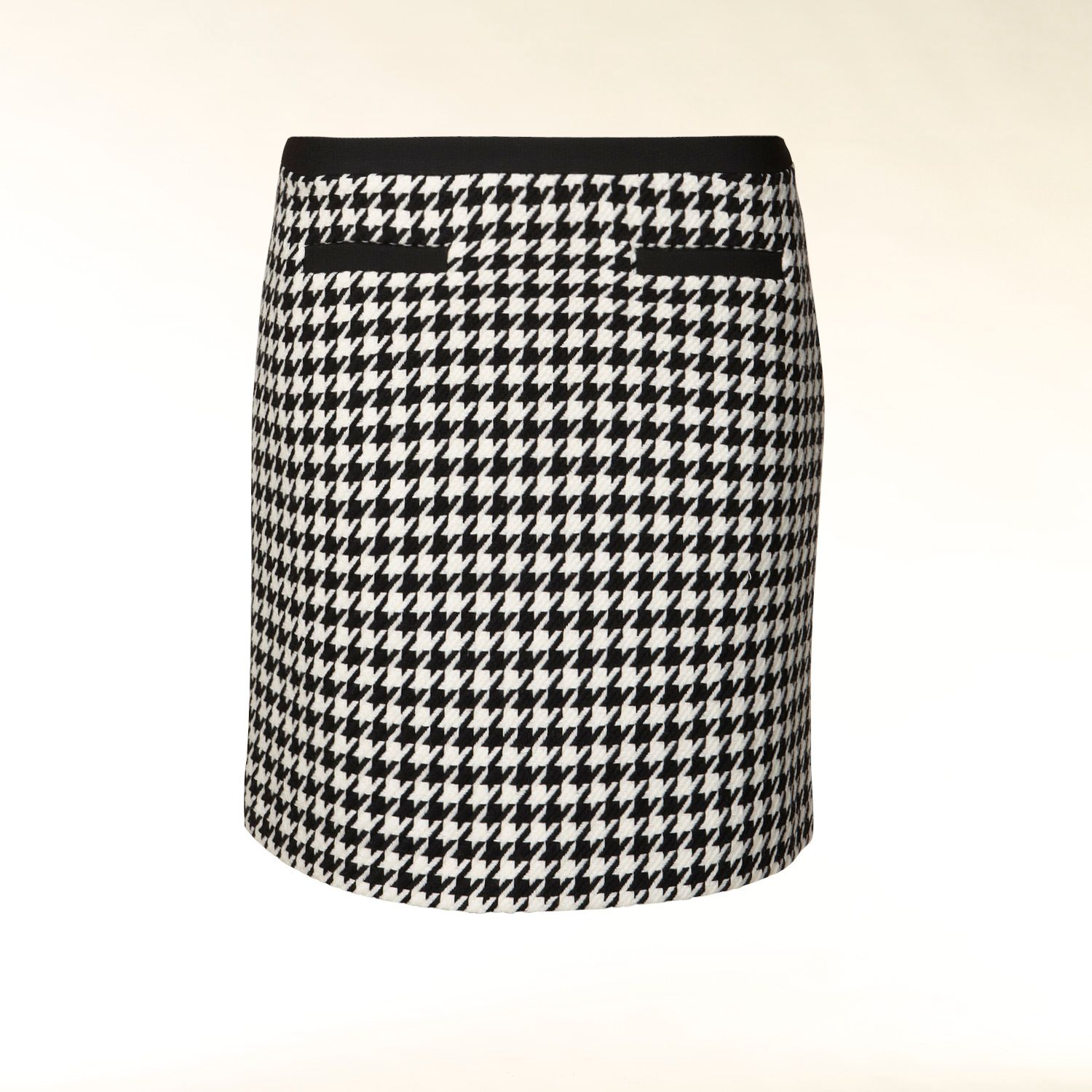 Knitted houndstooth skirt