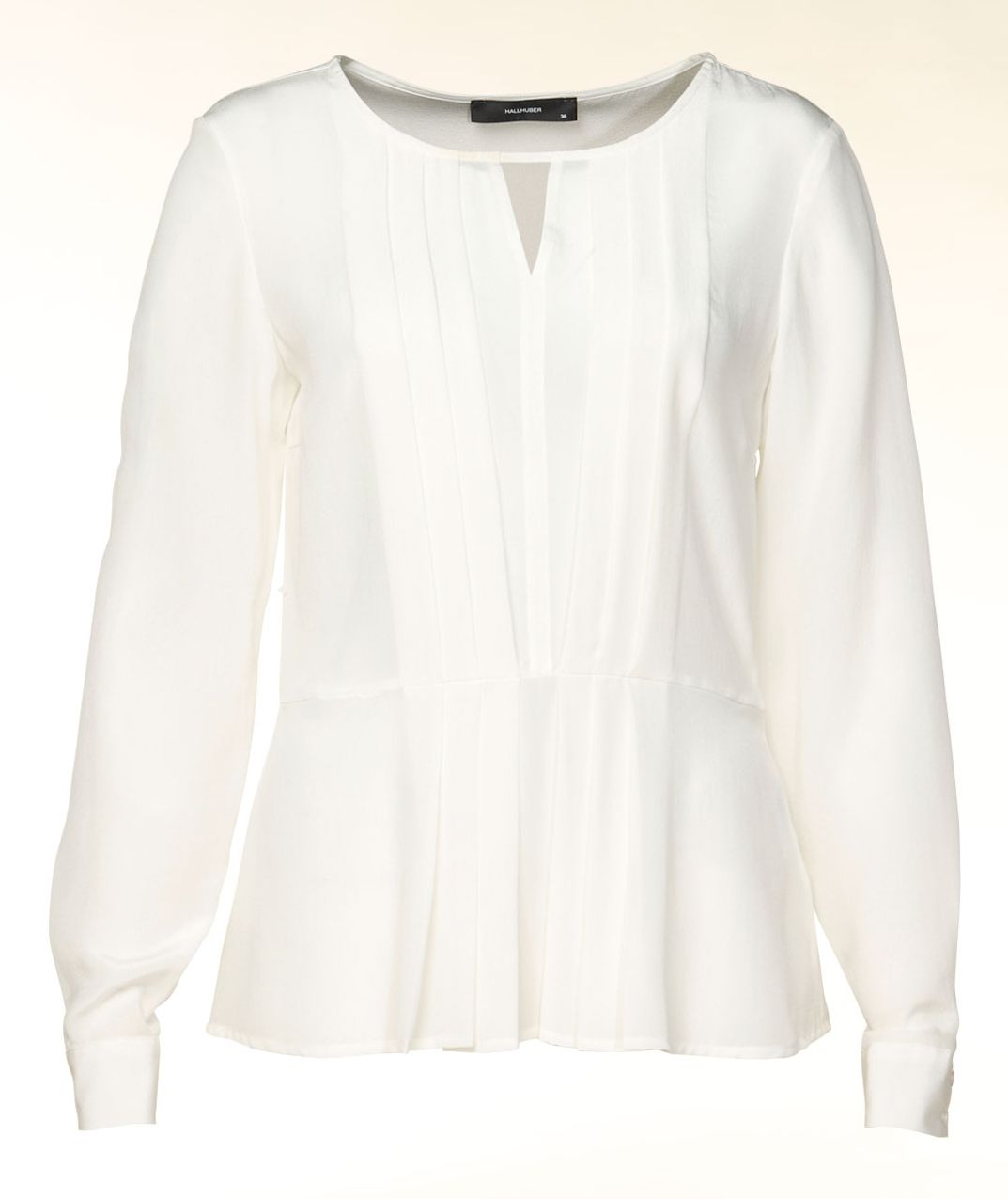 Pleat front peplum blouse