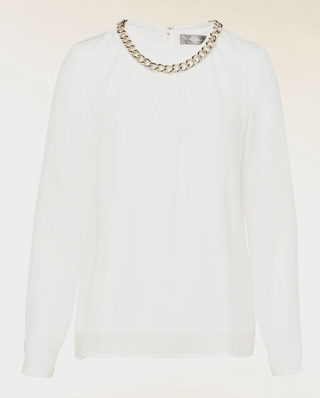 Silk chain detail blouse