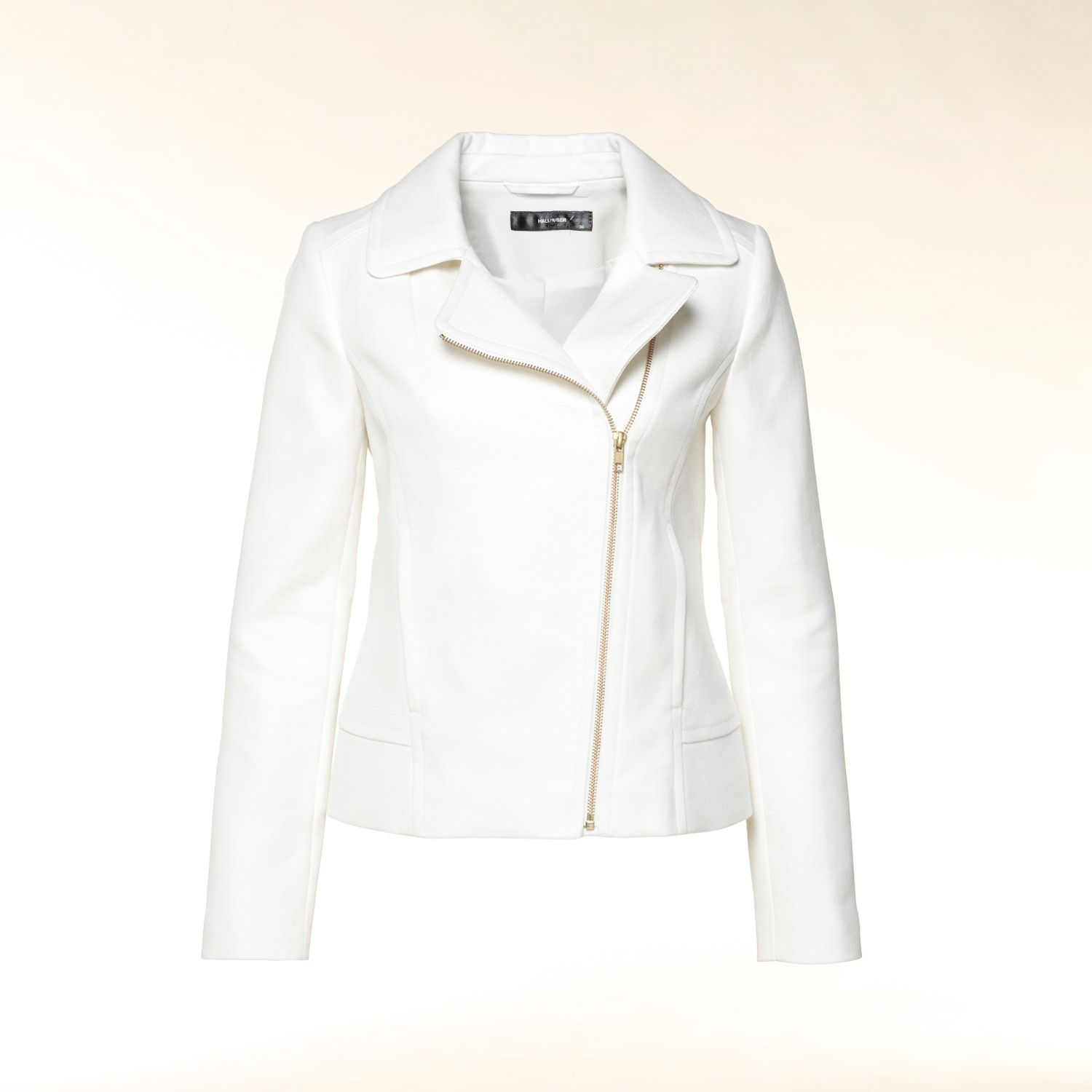 Cotton asymmetric biker jacket