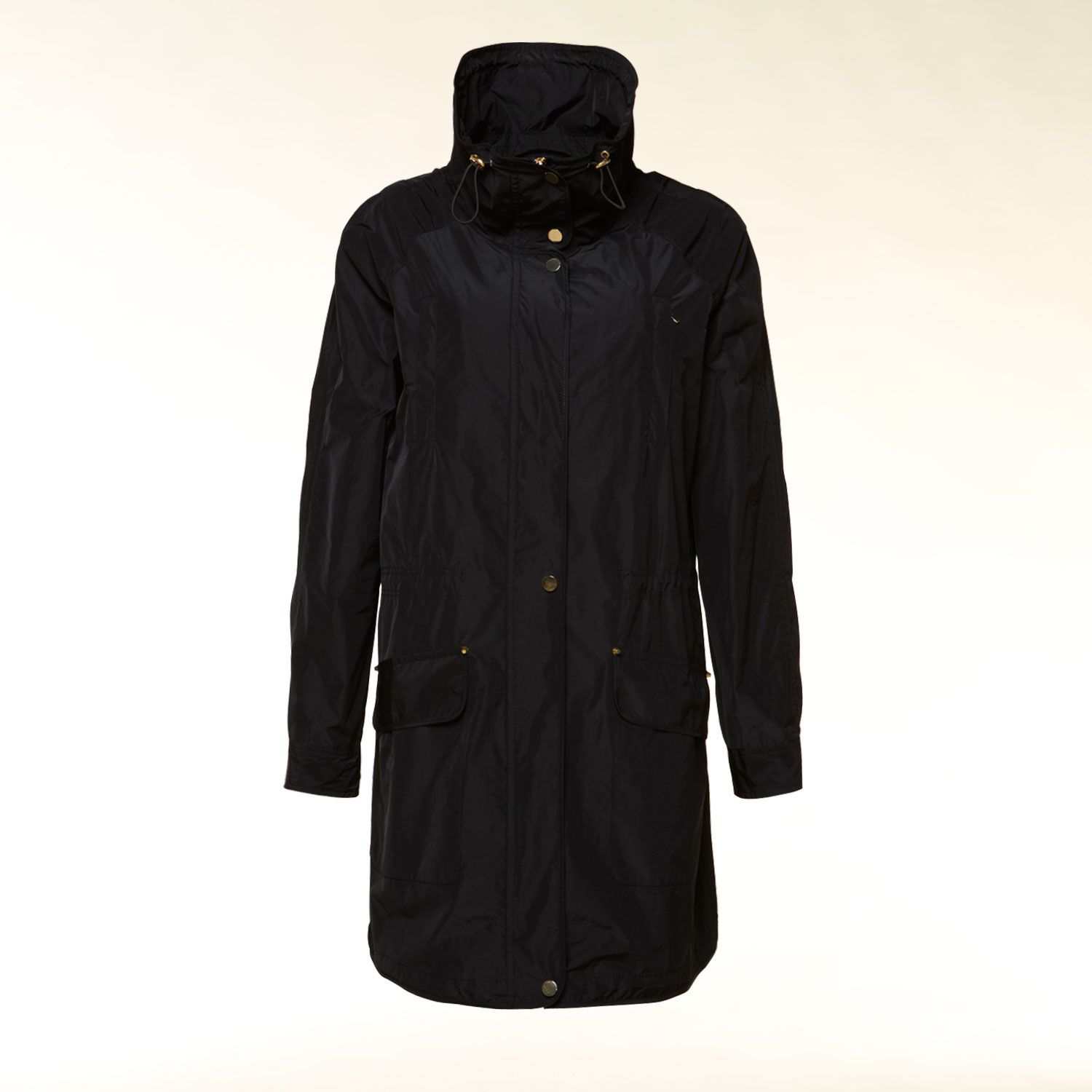 Lightweight funnel neck parka