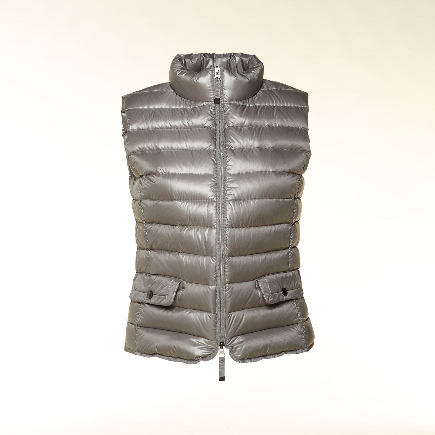 Quilted summer down gilet