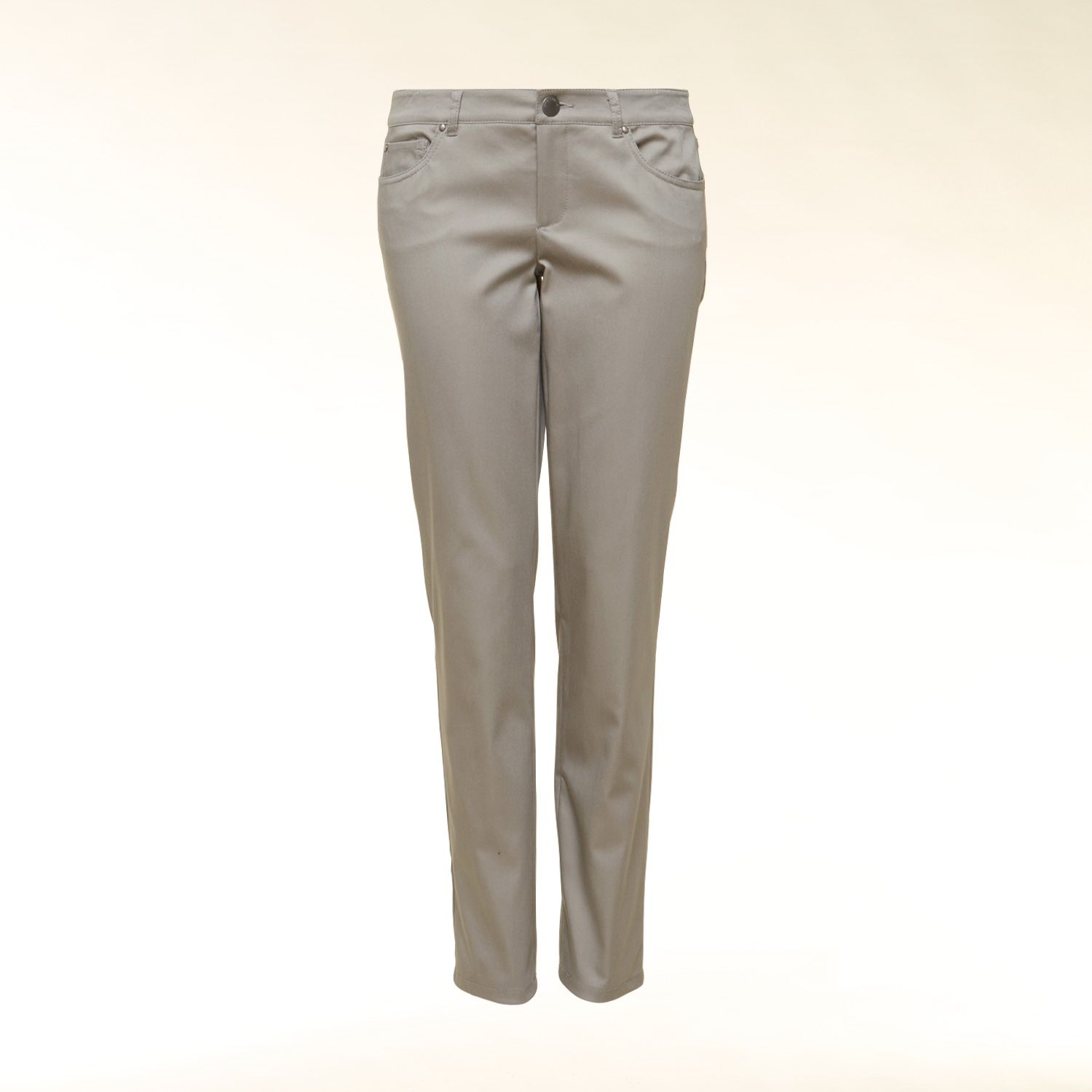 Cotton sateen jean shape trousers