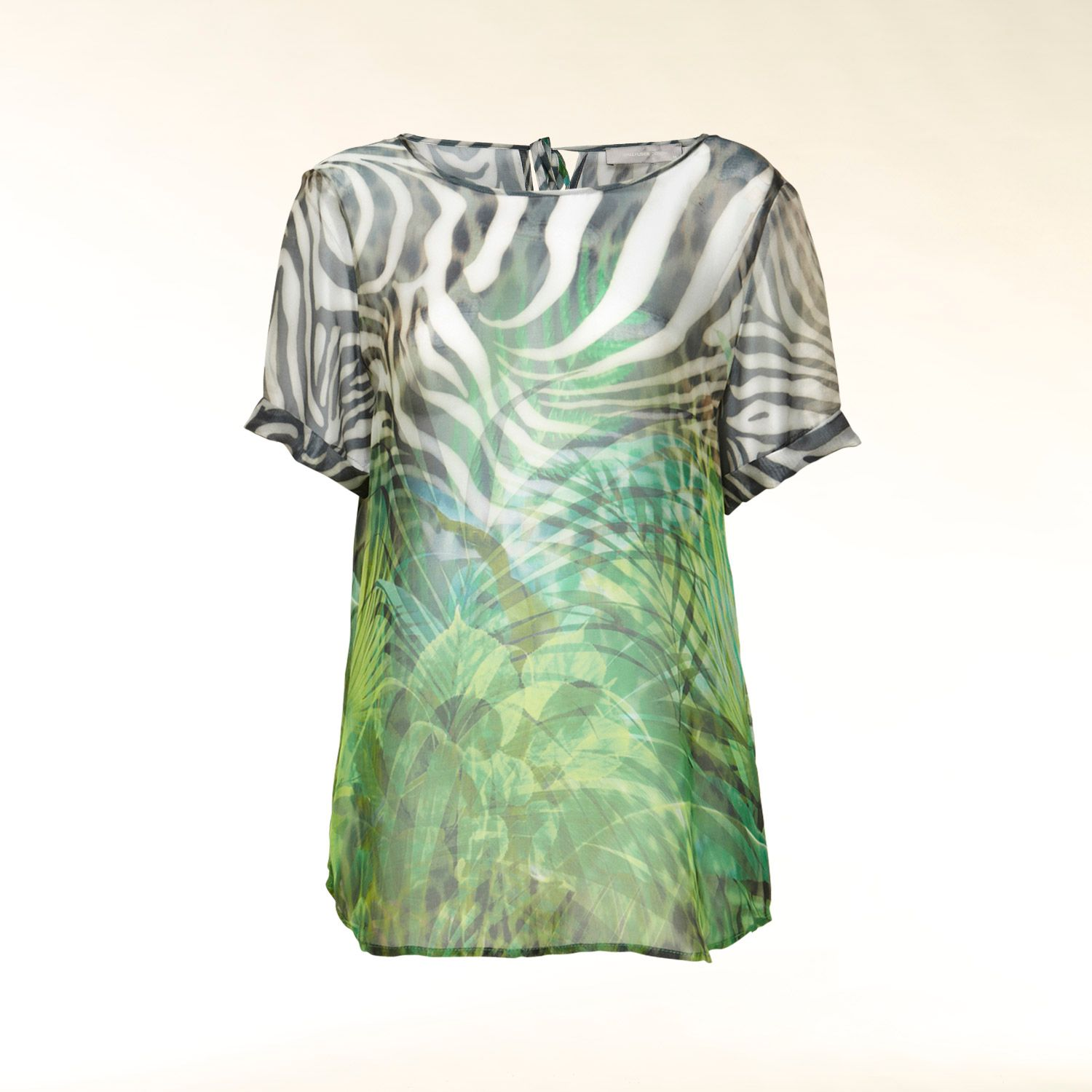 Silk jungle print top