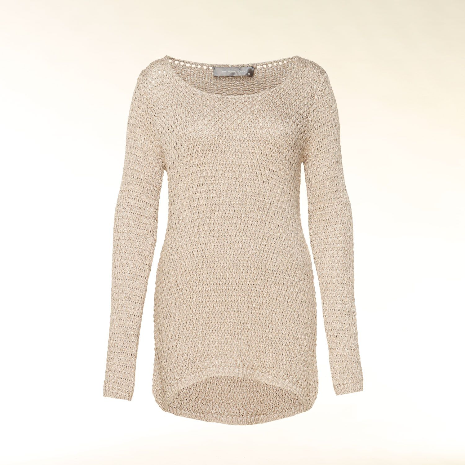 Metallic knit tunic