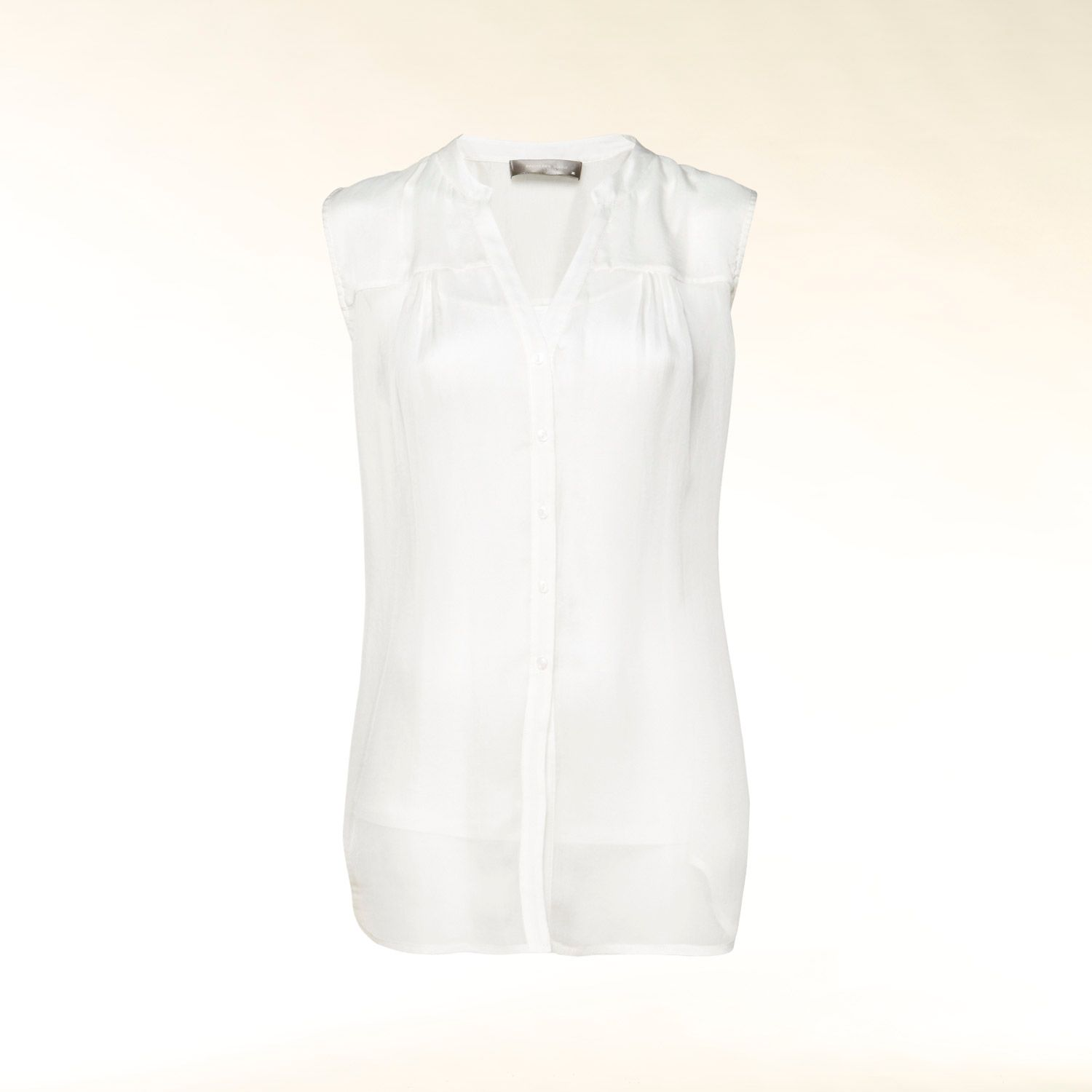 Silk blouse with jersey camisole