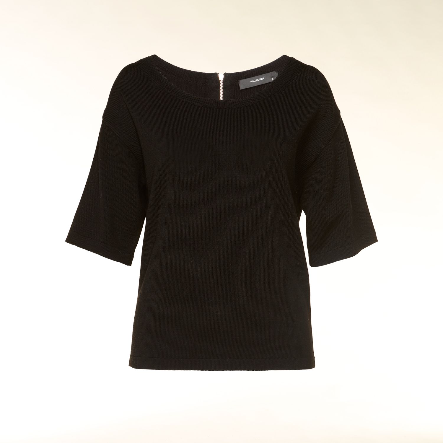 Jumper with back zip neck