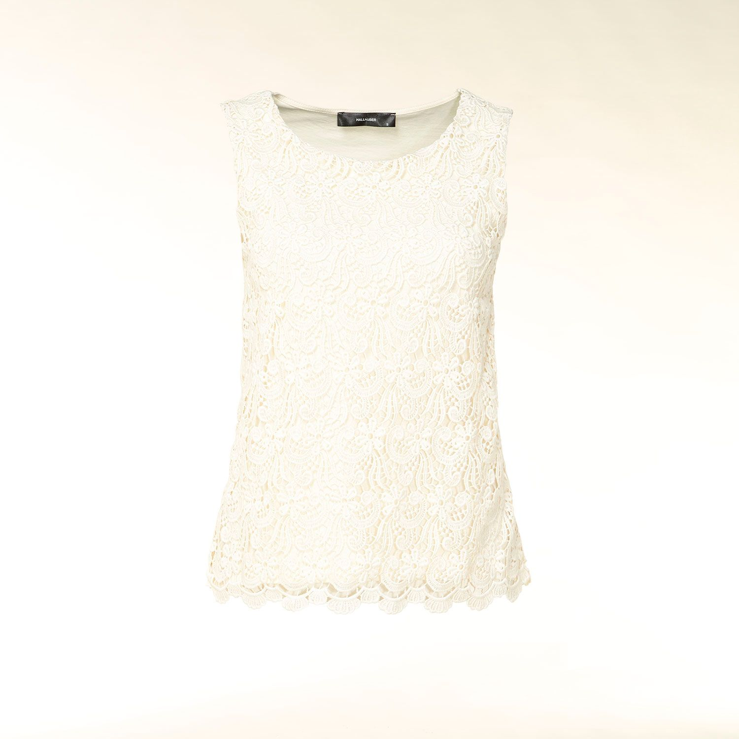 Sleeveless lace overlay top