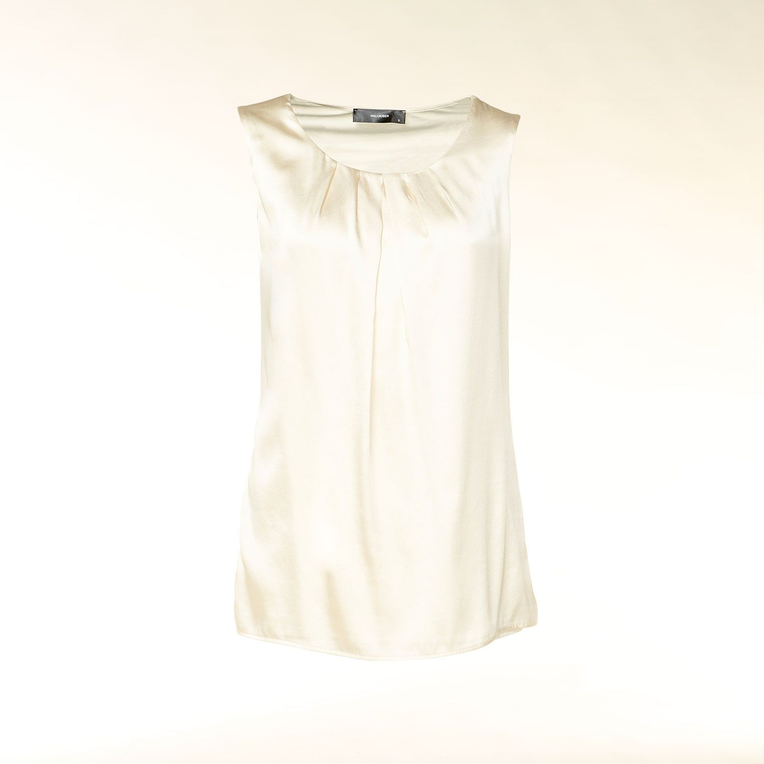 Sleeveless silk front top