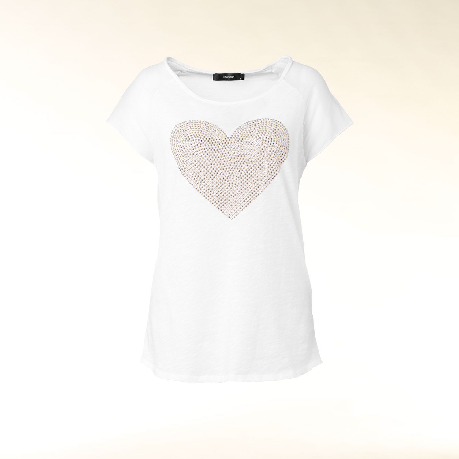 T-Shirt with heart applique