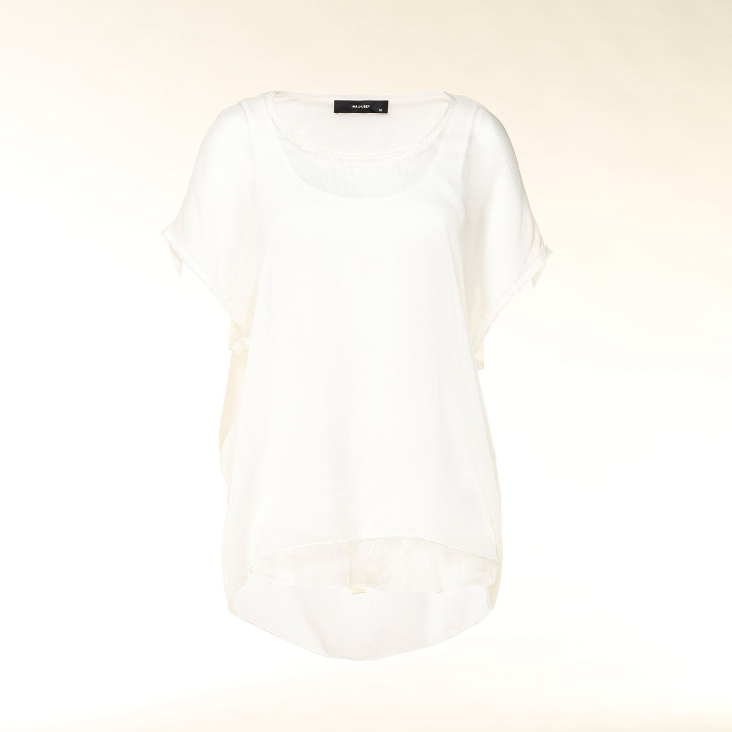 Relaxed fit contrast panel top