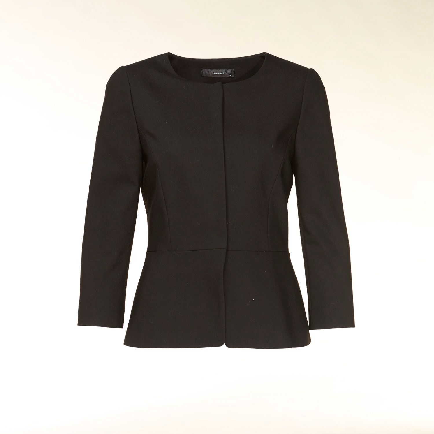 3/4 sleeve peplum detail jacket