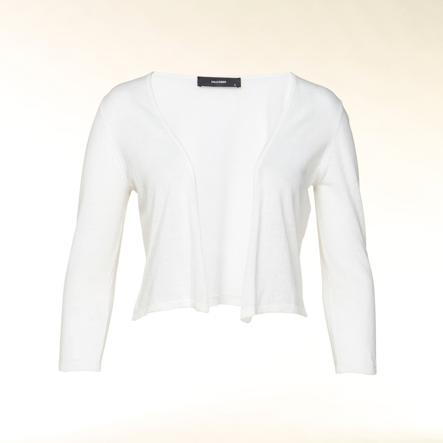 Cotton 3/4 sleeve cropped cardigan