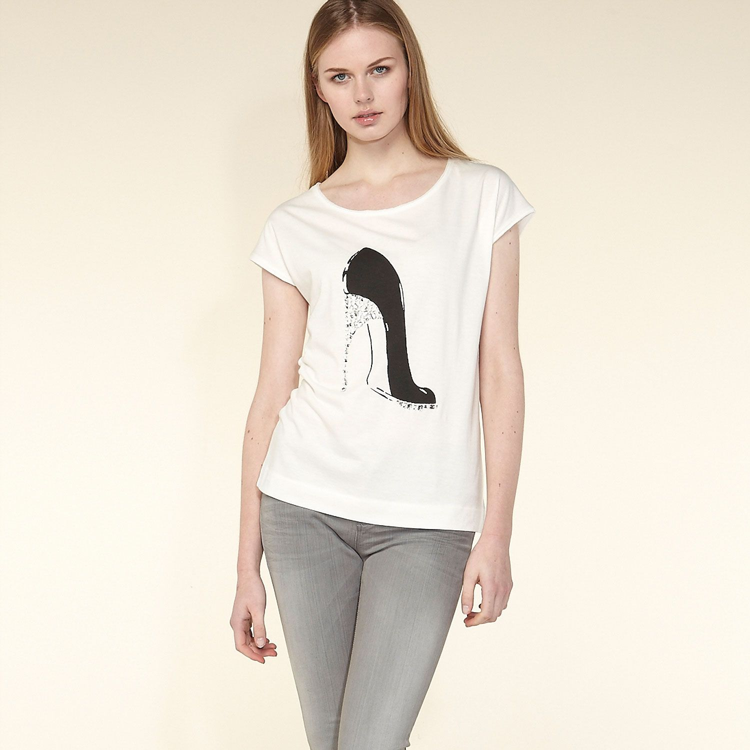 High heel motif t-shirt