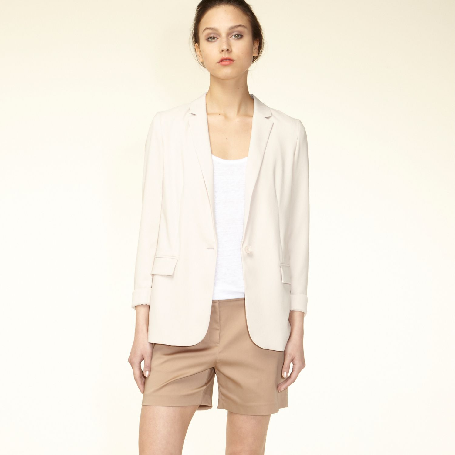 Long straight-cut blazer