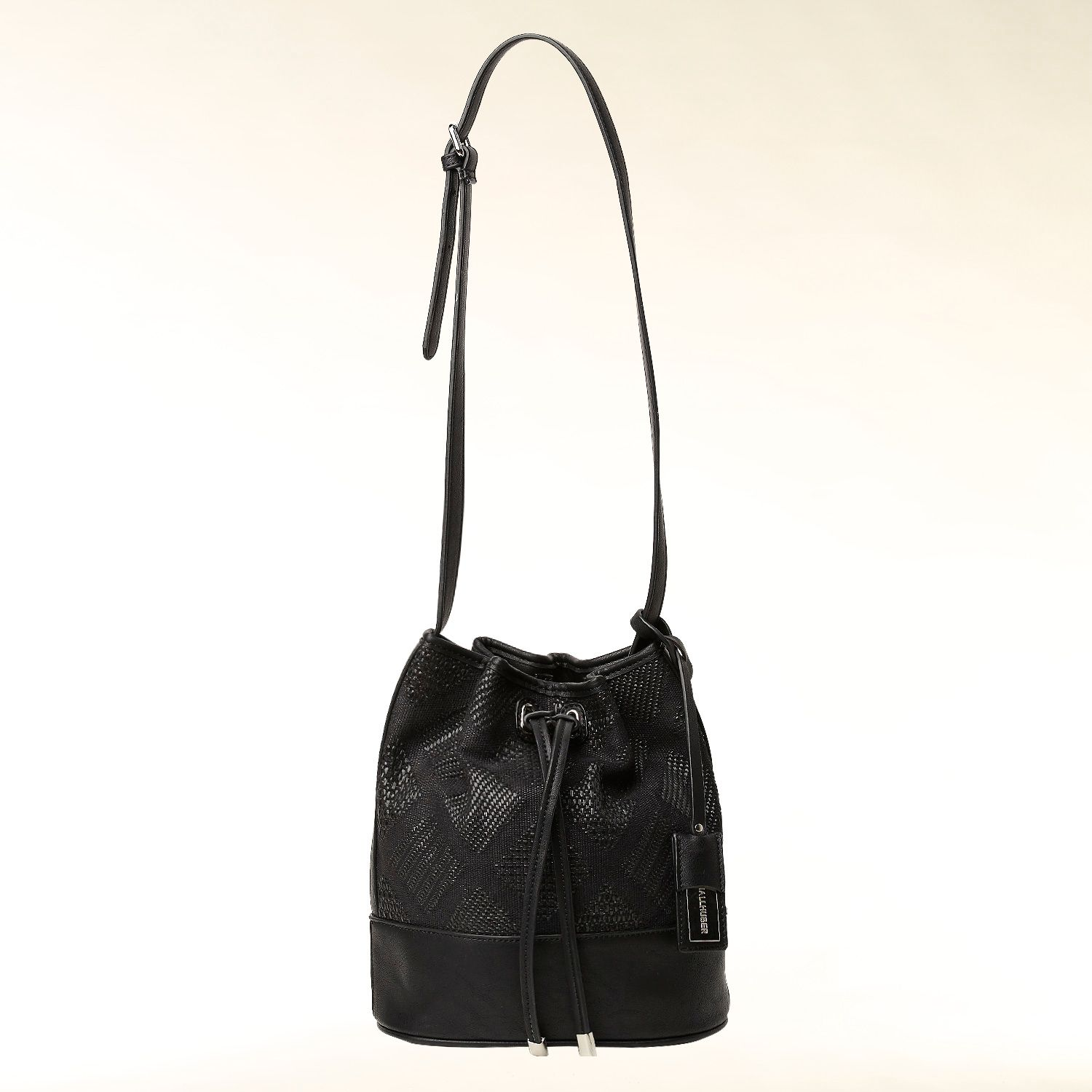 Jacquard print shoulder bag