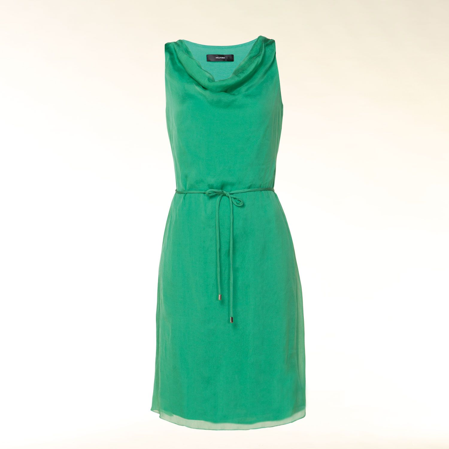 Silk cowl neck dress