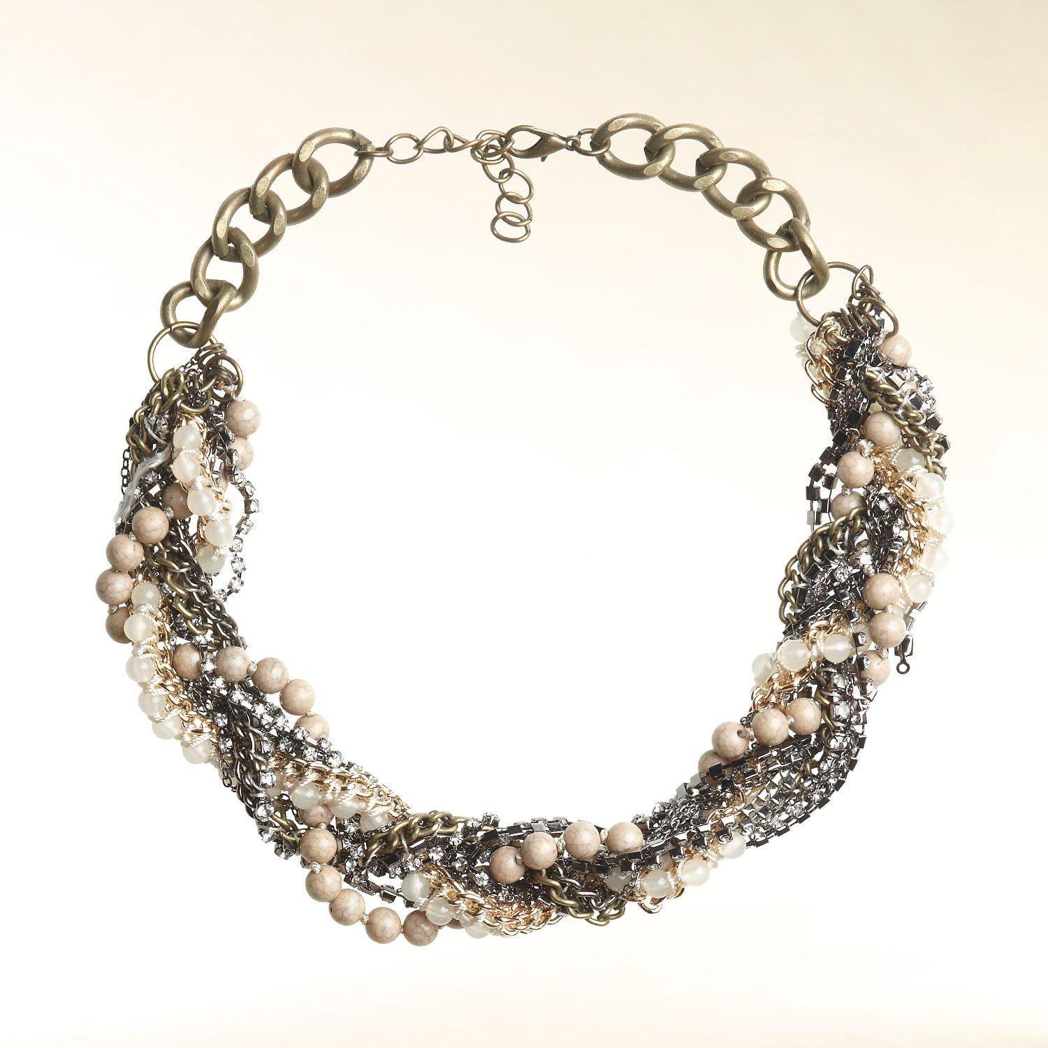 Statement necklace with braid-effect