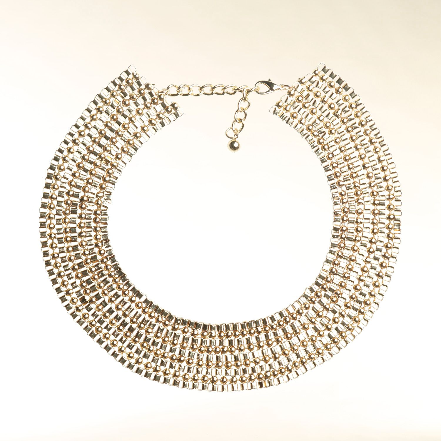 Gold-tone collar necklace