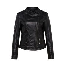 Biker style leather jacket