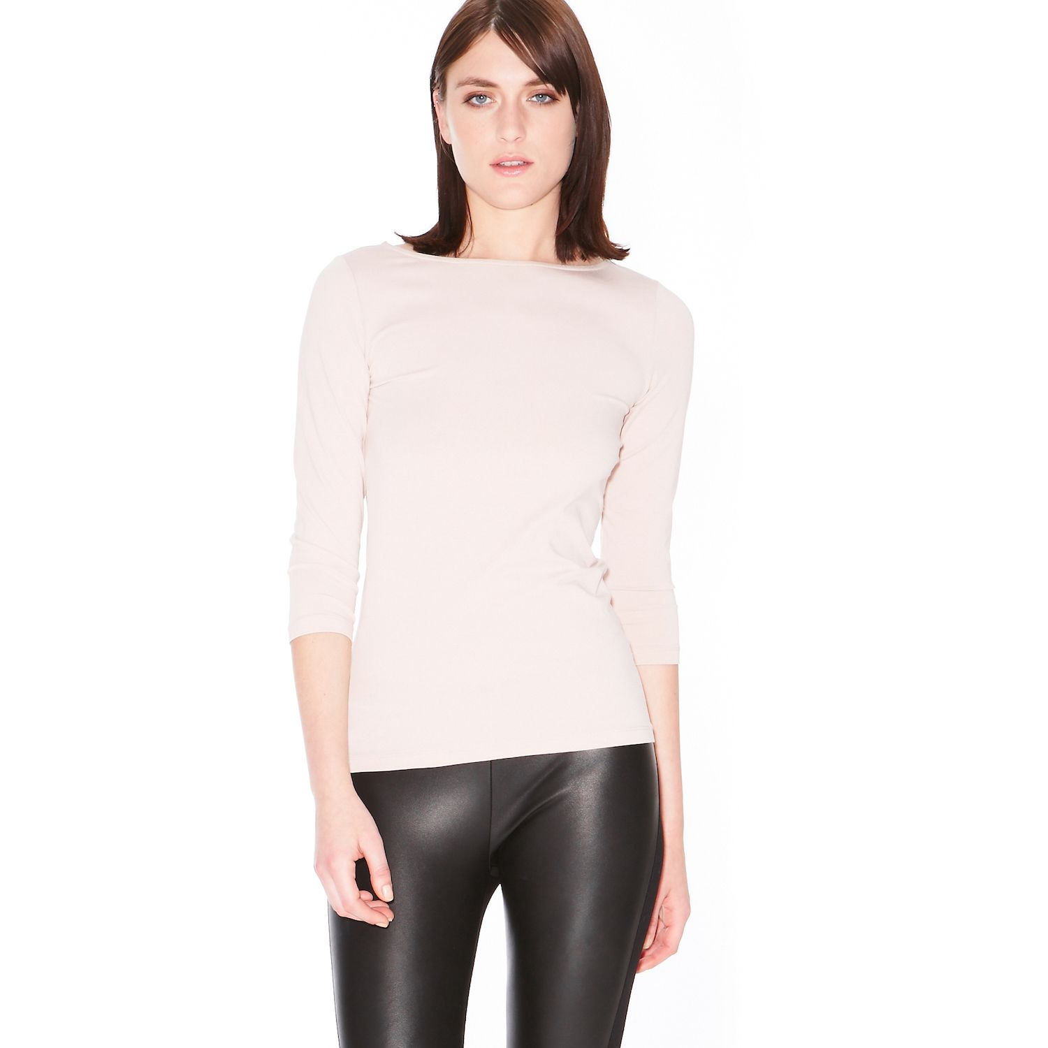 Boatneck long sleeve top