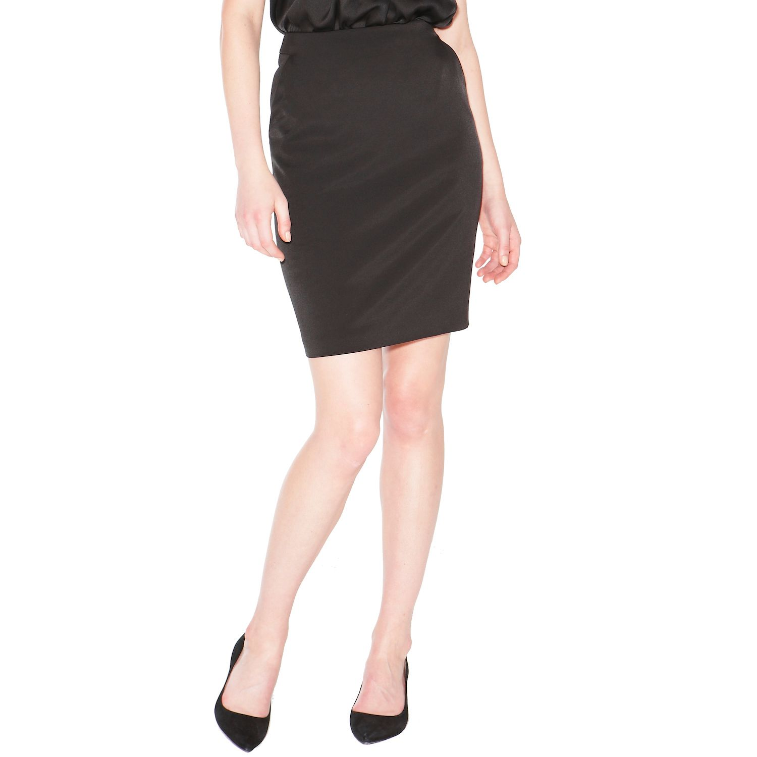 Pencil skirt with side pockets