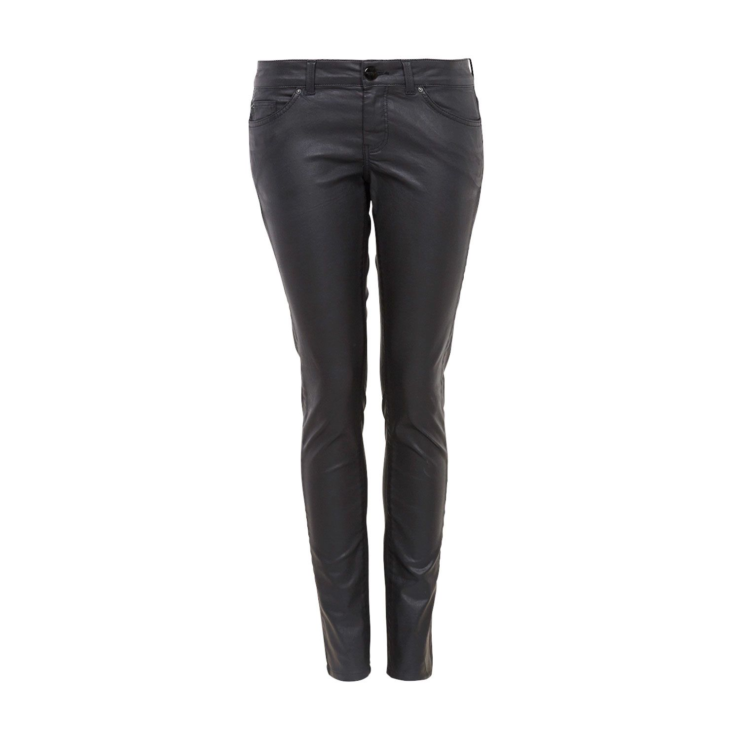 5 pocket style coated skinny jeans